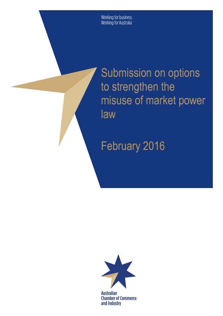 ACCC lays down the law on misuse of market power