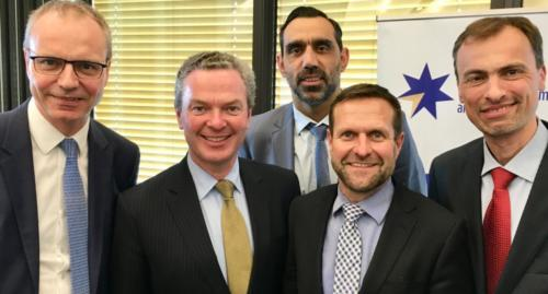 Darrin Grimsey, Mark Stewart and EY partner with Adam Goodes