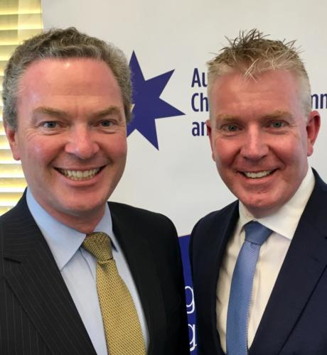 Minister Pyne and Martin Rogers, CEO NSW Taxi Council